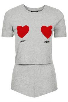 £ BUY Sweet Dreams Cropped PJ Tee & Shorts / Topshop / £22