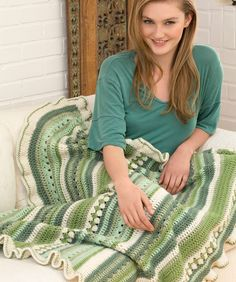 Country Fields Lapghan Free Crochet Pattern from Red Heart Yarns