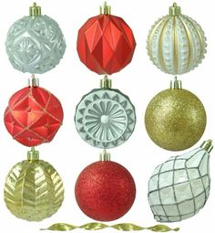 Pepper-berry Lane Shatter-Resistant Ornament Christmas Tree Decor (75-Count) #Ornametns #ChristmasTreeOrnaments #Christmas #TreeDecor #ChristmasTreeDecor #Decor #PepperBerryLane #ShaterResistant #75count #Lane #PepperBerry