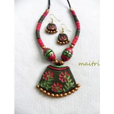 Terracotta Jewellery_Red imprinted- Only studs availableTerracotta  https://www.facebook.com/maitricrafts.maitri https://www.facebook.com/maitri.crafts maitri_crafts@yahoo.com
