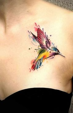 Watercolor Tattoos turn your body into a living canvas - watercolor. - Watercolor Tattoos turn your body into a living canvas – watercolor Hummingbird Tattoo © tattoo - Mini Tattoos, Flower Tattoos, Black Tattoos, Body Art Tattoos, Small Tattoos, Sleeve Tattoos, Temporary Tattoos, Fox Tattoos, Tree Tattoos