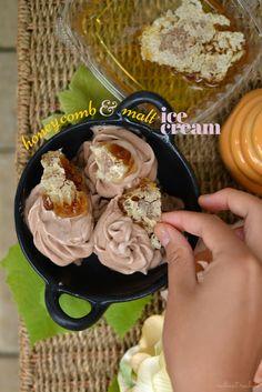 Honeycomb Malt Ice-Cream | http://www.radiantrachels.com/honeycomb-malt-ice-cream/ | @radiantrachels