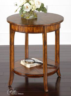 A little over $200 gets you this perfect table with free shipping. #uttermost #lamptable #furniture