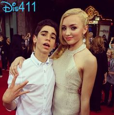 Cameron Boyce with Ragazza Peyton List