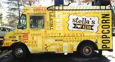 Stella's PopKern / Food Truck Wrap & Brand Identity by Maggie Winters