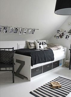 The Only Girl in the House blog compiles her favourite inpsiration for a monochrome kids bedroom and nursery. Black and white nursery, bedroom, boys room. interior design ideas for children and family. toddler to teen ideas for a monochrome bedroom