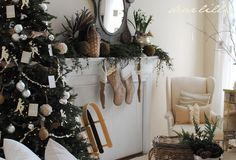 christmas tree. {white, silver & natural}
