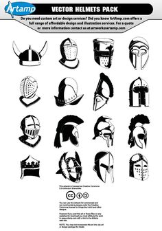 Vector Helmets Pack [AI-CDR Files]