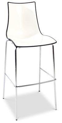 Zebra  Plastic Two-Colour Chrome Bar Stool 80cm in White/Charcoal AU  sc 1 st  Pinterest & Zebra
