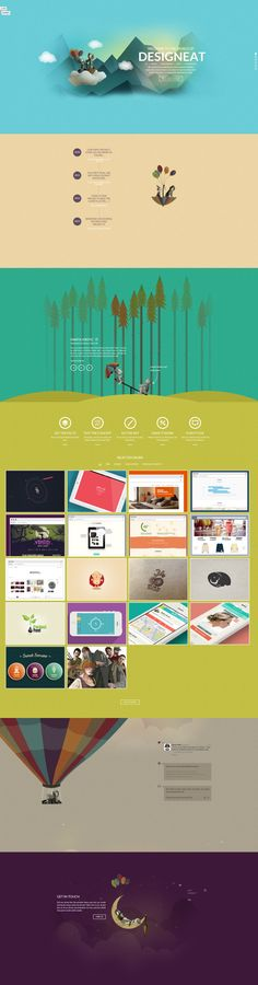 Inspirational UI & #web design from DesignEat. Absolutely breathtaking. You must click to check out this website!