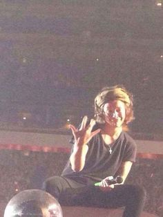 There is every single beautiful Westside hand signal. | 46 Life-Changing Things That Happen At A One Direction Concert