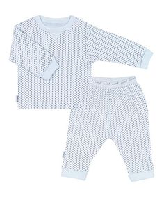 Look what I found on #zulily! Blue Polka Dot Tee & Pants - Infant #zulilyfinds
