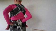 Babywearing basics: Front Wrap Cross Carry with a twist using a size 6 wrap.