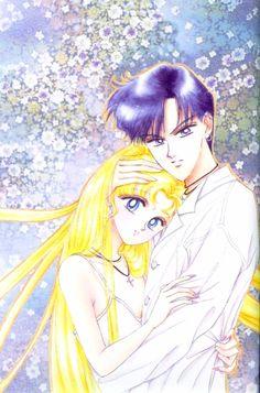 Sailor Moon - Mamoru Chiba x Usagi Tsukino - MamoUsa Sailor Moons, Sailor Moon Manga, Sailor Moon Crystal, Sailor Moon Art, Sailor Pluto, Manga Drawing, Manga Art, Manga Anime, Sailor Saturno
