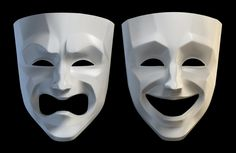 tragedy comedy theater masks 3d model