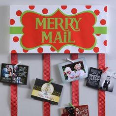 Merry Mail Canvas Card Holder--Kirklands (Canvas not wood) Christmas Card Hanger, Christmas Mail, Christmas Wishes, Diy Christmas Gifts, Christmas Decorations, Christmas Ideas, Christmas Time, Christmas Inspiration, Christmas Stuff