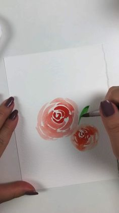 Watercolor art for beginners. Learn how to paint loose watercolor flowers. Watercolor Flowers Tutorial, Flower Tutorial, Simple Watercolor Flowers, Easy Flower Painting, Peony Painting, Feather Painting, Art Floral, Watercolor Cards, Floral Watercolor