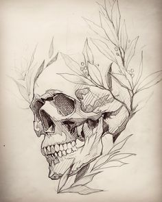 Skull tattoo design, skull design, tattoo sketches, drawing sketches, t Tattoo Sketches, Drawing Sketches, Tattoo Drawings, Art Drawings, Sketch 4, Sketch Tattoo Design, Kunst Tattoos, Body Art Tattoos, Tattoo Hip