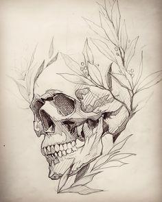 Skull tattoo design, skull design, tattoo sketches, drawing sketches, t Skull Tattoo Design, Skull Tattoos, Body Art Tattoos, Tattoo Designs, Skull Design, Skull Butterfly Tattoo, Sleeve Tattoos, Ear Tattoos, Wing Tattoos
