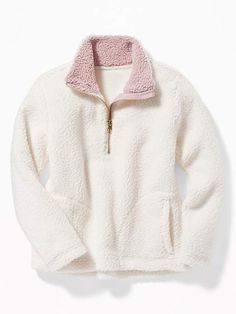 0dd7fe5d6 Old Navy Sherpa 1 4-Zip Pullover for Girls Costura