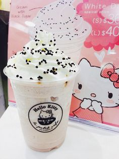 Hello Kitty Ice Cream? Or is this a Frozen Coffee with Whipped Cream? I haven't had either in such a long time lol