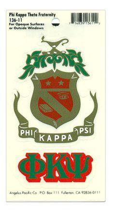 Phi Kappa Psi Crest Decal