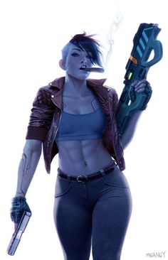 The Cult of the Wyrm — Razor Girl by Dan Meaney Cyberpunk Girl, Arte Cyberpunk, Cyberpunk 2077, Character Concept, Character Art, Samurai, Arte Indie, Cyberpunk Aesthetic, Futuristic Art