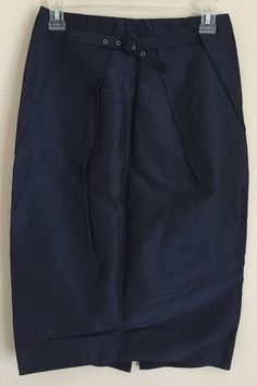 No.L.ita N.Y.C. Nolita womens Skirt 40 Navy Blue Made in Italy #NOLITA #FullSkirt