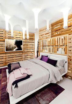 Una #casa #palet en Plasencia, #Italia. Mix decorativo rústico-contemporáneo #deco