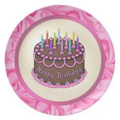 Birthday Cake Plate