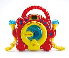 CD Player with Microphones to Sing Along Perfect Gift for a Toddler