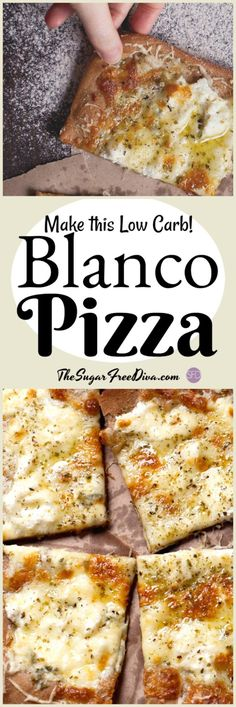I love that pizza can be made low carb or even gluten free too. This is an amazing recipe for Low Carb Blanco Pizza that is so good! Ketogenic Recipes, Low Carb Recipes, Cooking Recipes, Healthy Recipes, Low Carb Bread, Low Carb Diet, Menu Dieta Paleo, Pizza Blanca, Low Carb Flammkuchen