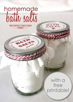 DIY Sleep Bath Salts With Printable