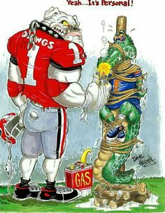 Go Dawgs beat the Gators! Georgia Bulldogs Football, Sec Football, Football Quotes, College Football, Bulldog Quotes, Bulldog Mascot, Georgia Girls, Florida Georgia, Custom Football