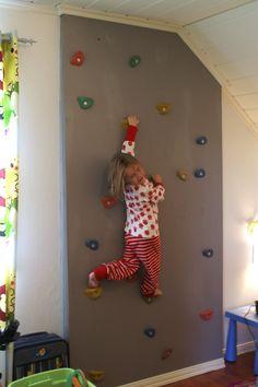 Klatrevegg på barnerommet!