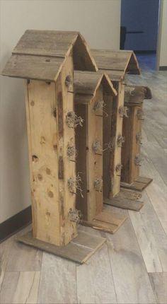 Wooden Pallet Garden Birdhouses
