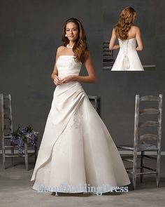 ruched wedding dress - Google Search