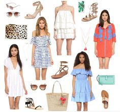 """I love everything on this list! Nothing says summer like scalloped trim, tassle details and pom poms. As I was rounding up all of these new arrivals I was pretty pumped to stumble upon this great off the shoulder dress for less than $80 & these Dior knockoffs for $12. (WHAT!) Also I'm pretty sure I'm buying myself this """"I need a vacation"""" iphone case like tomorrow."""