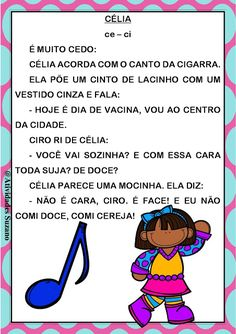 Textos para alfabetização | Atividades Pedagogica Suzano Portuguese Language, Smurfs, Teaching, Activities, How To Plan, Education, Kids, Fictional Characters, Brave