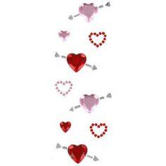 Hearts & Arrows Gemstone Stickers