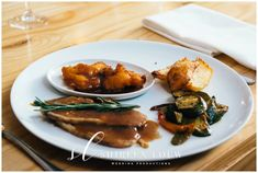 Another delicious dish prepared by Chef Bertus Bester Thank you to Shireen Louw Wedding Productions for capturing this image so beautifully Tasty Dishes, Catering, Yummy Food, Chicken, Meat, Wedding, Image, Valentines Day Weddings, Delicious Food
