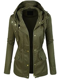 LE3NO Womens Lightweight Cotton Military Anorak Jacket with Hoodie LE3NO http://www.amazon.com/dp/B016X3C0U0/ref=cm_sw_r_pi_dp_nHvnwb0DHTA5T