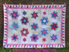 Spinning Stars Quilt Pattern, PDF via Craftsy