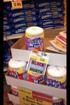 Black History Month Kool-Aid Sale. I usually hate racist jokes/ comments...but this is funny