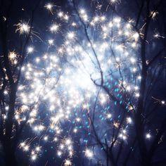 Dancing with fireflies - firework photo 8x8 via Etsy.