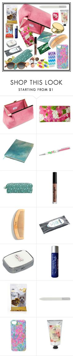 """""""heave ho"""" by runners ❤ liked on Polyvore featuring Kate Spade, Paperchase, NYX, Budd Leather, Kleenex, Kiehl's, OPI, Lilly Pulitzer, Pré de Provence and Ace"""