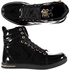 Sneraker alte verniciate Laura Biagiotti con particolari gold e lacci in tessuto - € 52,90 | Nico.it - #LauraBiagiotti #sneakers #shoes #womenfashion #aw14