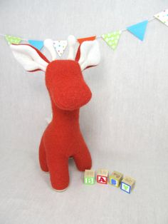 Giraffe Handmade Stuffed Animal Toy Children Plush by violastudio, $55.00