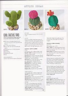 Crochet Cactus Pattern. More Great Patterns Like This