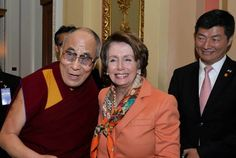 United Nations For a Free Tibet 06/12/2016 - HH the Dalai Lama and Tibetan PM Dr Lobsang Sangay congratulate Leader Pelosi on her re-election.